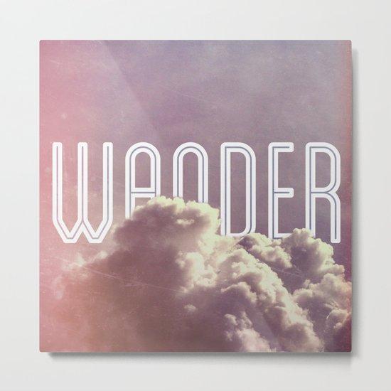 Wander (square) Metal Print
