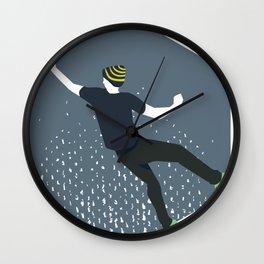 bouldering man Wall Clock