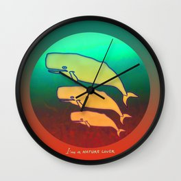 Nature Lover / Whales Wall Clock