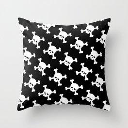 Skull Crossbones Symbol Throw Pillow