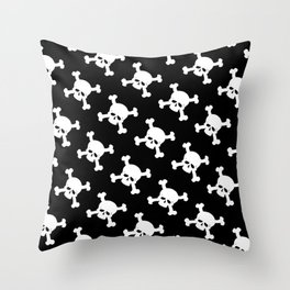 Skull Crossbones Symbol Throw Pillow