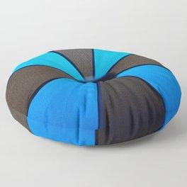 Black & Blue Umbrella Floor Pillow