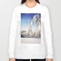 ski Long Sleeve T-shirts featuring Ski  by David Nadeau