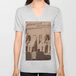 Abu Simbel 001 Unisex V-Neck