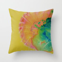 Jellyfish Abstract Throw Pillow