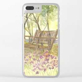 Bedrock Garden Spring on In and Out Pathway Clear iPhone Case