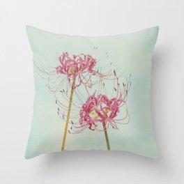 Spider Lily Autumn Botanical Throw Pillow