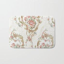 Antique fabrique wall paper Bath Mat