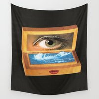 poem Wall Tapestries featuring The poem object of dreams  by Mariano Peccinetti