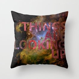 Galactic Positivity Wall Text Throw Pillow