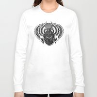 egyptian Long Sleeve T-shirts featuring Egyptian Scarab by BIOWORKZ