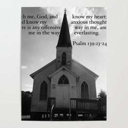 Church with a Prayer Poster
