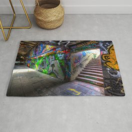Leake Street London Graffiti Rug