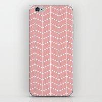 pun iPhone & iPod Skins featuring Kuvio vaal. pun. pohjalla by Ilona