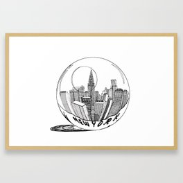 New York Print. Home Decor Graphicdesign Framed Art Print