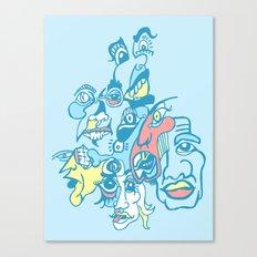 Slap-Scary Dr. Monocle  Canvas Print