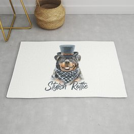 Stylish Rottweiler, for big dogs owners. Rug