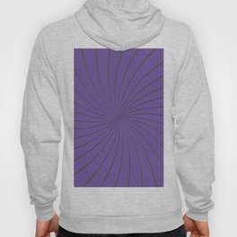 3D Purple and Gray Thin Striped Circle Pinwheel Digital Graphic Design Hoody