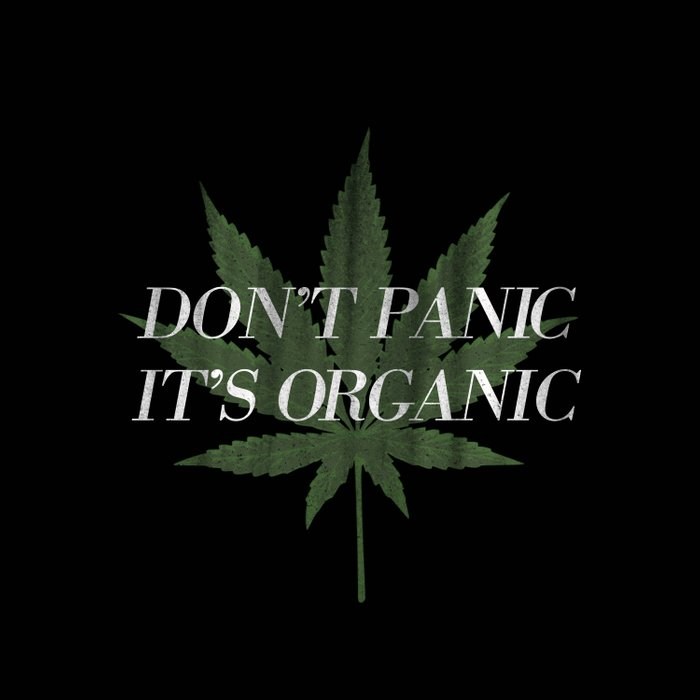 Don't Panic it's Organic Vintage Potleaf Print Comforters