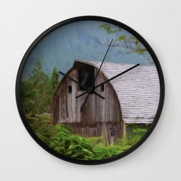 Middle Of Nowhere - Country Art Wall Clock