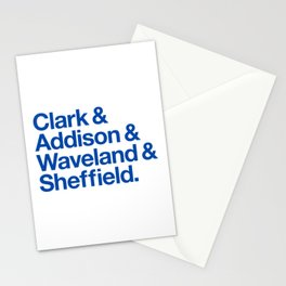 Clark & Addison & Waveland & Sheffield Stationery Cards