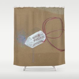 Quartz - These are the things I use to define myself Shower Curtain