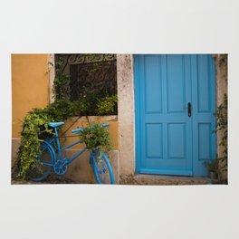 Blue Bicycle and Door in Rovinj Rug