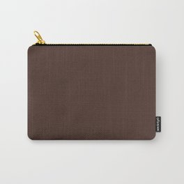 Solid dark brown Carry-All Pouch