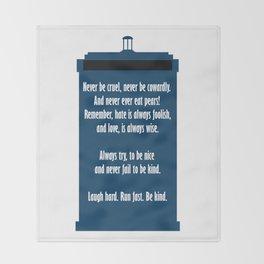 Twelve's Last Words Throw Blanket