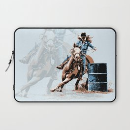 Barrel Racing - Life in the Fast Lane Laptop Sleeve