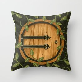 In a hole in the ground Throw Pillow