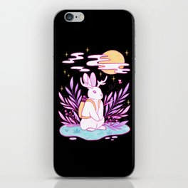 Plant Jackalope // Black iPhone Skin