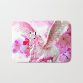 HORSE PINK FANTASY CHERRY BLOSSOMS Bath Mat