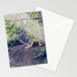 Solar Flare Shines Across Forest Sky at Point Defiance Tacoma WA Stationery Cards