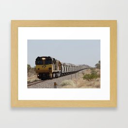 freight train a'comin Framed Art Print