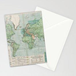 Flemmings Kriegskarten / Flemming's War Maps (1917) - 037 Map of the World, 1917 Stationery Cards