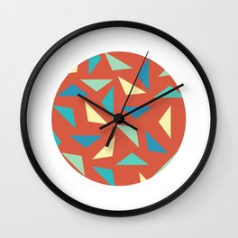 circular triangular Wall Clock