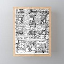 Porto Rico Importing Co._RED Framed Mini Art Print