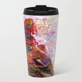 DayDreaming - Intense Multi-Color Vibrant Abstract Mixed Media Digital Painting Travel Mug