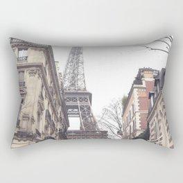 Paris streets, Eiffel tower, city skyline, industrial fine art photo, shabby chic Rectangular Pillow