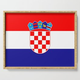 Flag of Croatia Serving Tray