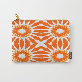Orange Pinwheel Flowers Carry-All Pouch