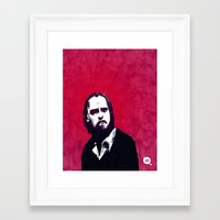 nick cave Framed Art Prints featuring Nick Cave by James Courtney-Prior