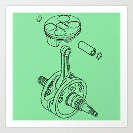 Piston Art Print