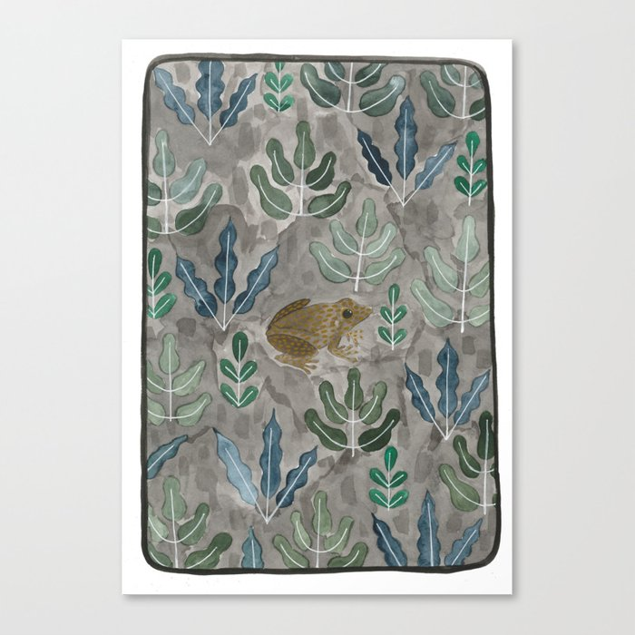 Save the frogs! Canvas Print