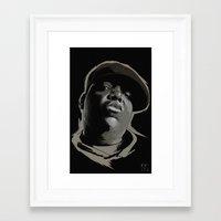 biggie smalls Framed Art Prints featuring Biggie Smalls by Masood Tahir