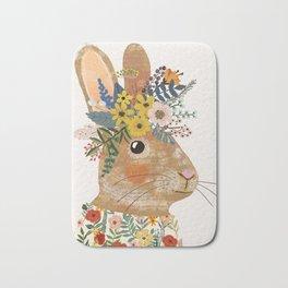 Foral Rabbit Bath Mat