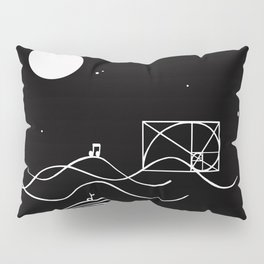 between sound and silence Pillow Sham