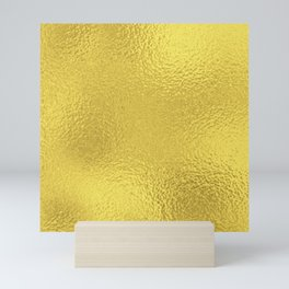 Simply Metallic in Yellow Gold Mini Art Print