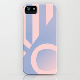 Pattern colors 2016 rose quarz and serenity blue iPhone Case